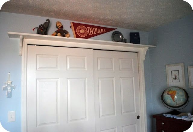 shelf above closet doors