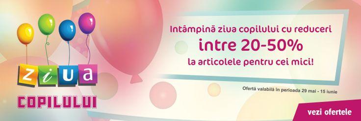 Pana pe data de 15 iunie, profita de reducerile la articolele pentru copii!
