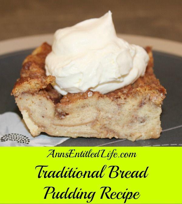 Traditional Bread Pudding Recipe on Yummly. @yummly #recipe