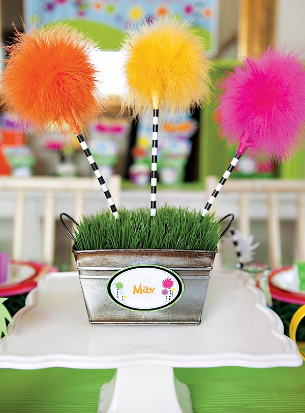 Vibrant & Fun Dr. Seuss Inspired Lorax Birthday Party