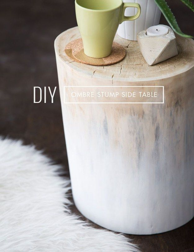 And what else could bring back the ombre trend like this? | 16 Tree Stumps That Will Inspire Your DIY Awakening