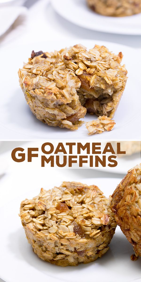 These healthy oatmeal muffins have very little added sugar and plenty of whole grains. Naturally gluten free, and kid approved!