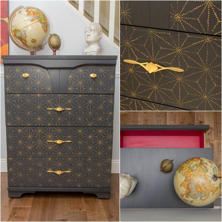 diy japanese furniture. shibori japanese furniture stencil diy