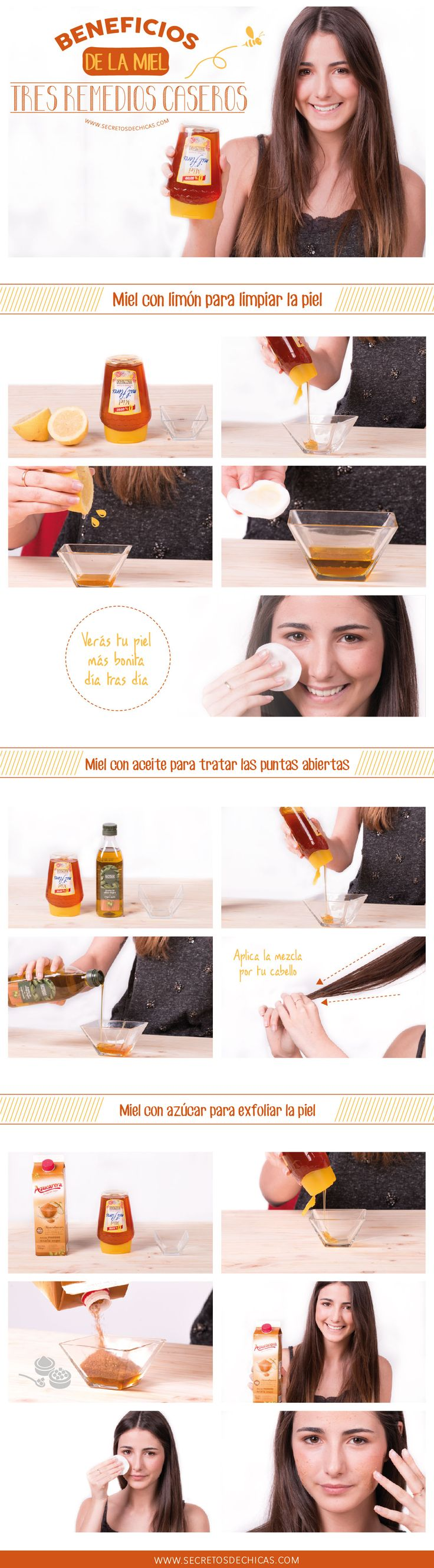 Beneficios de la miel + 3 remedios caseros. #belleza #estética http://mejoresremediosnaturales.blogspotcom #remedios #caseros #dolor #cabeza #popular
