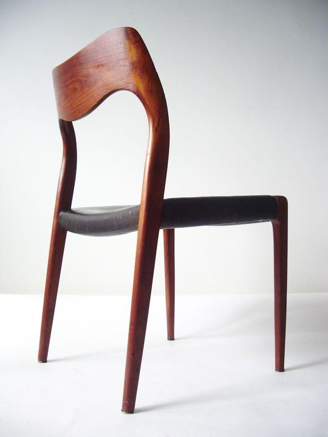 Arne Hovmand-Olsen Model 71 chair for Niels Moller in teak and leather - Modern Love: Mid-Century Modern Furniture, Lighting, Design