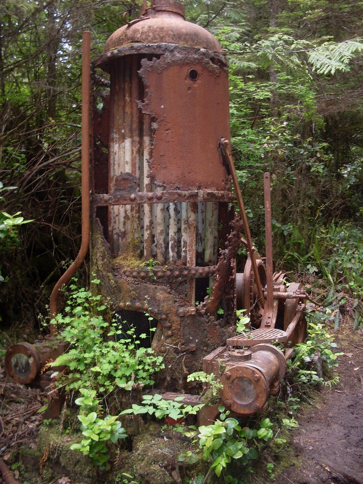 Steam Donkey, West Coast Trail, Vancouver Island, British Columbia