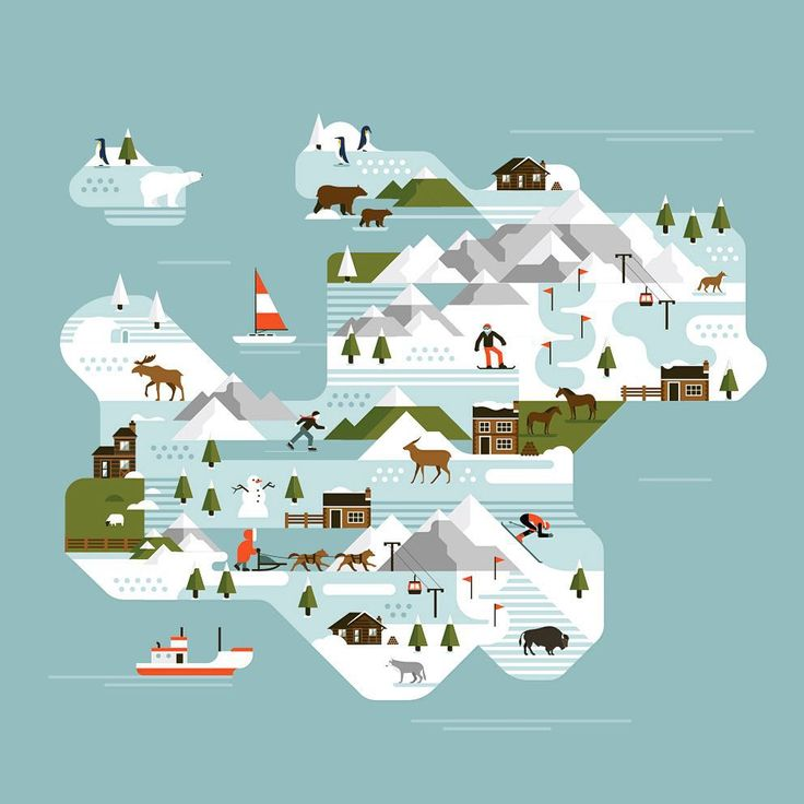 makers_coA #map #illustration done for @espn #magazine #icon #iconography #animal #vector #flatvector #geometricillustration #makerscompany #makers_co #picame #editorial