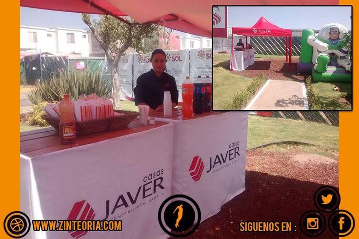 #Montaje para eventos de Casas Javer 🏡  #AgenciaBTL  #Marketing #BTL #Advertising