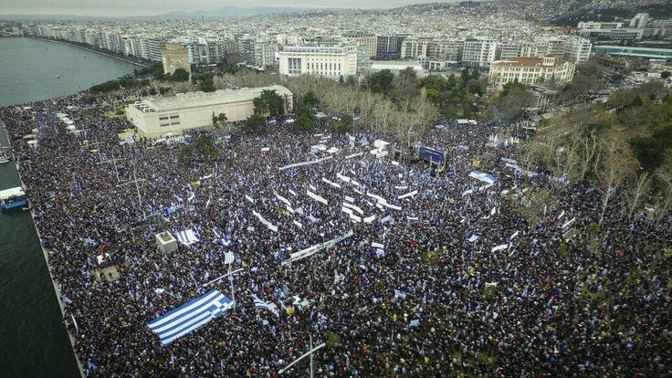 Πάνω από 800.000 οι συμμετέχοντες στο συλλαλητήριο για τη Μακεδονία