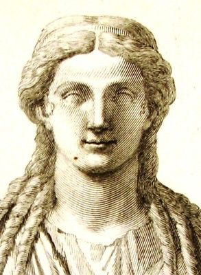 """Zanetti's Greek Statues -1743- CERES - GODDESS OF AG. RARE, ANTIQUE COPPER ENGRAVED PRINTS OF GREEK STATUES This 268 year old copperplate print was rescued from the book """"DELLE ANTICHE STATUE GRECHE E.  This is Ceres, the sister of Jupiter."""