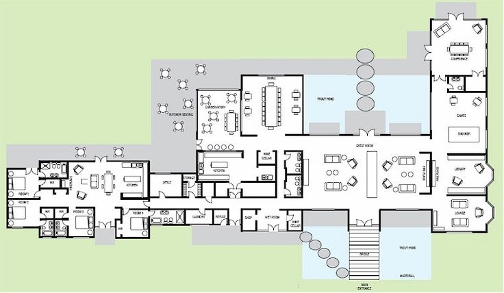 Hunting Lodge Floor Plans