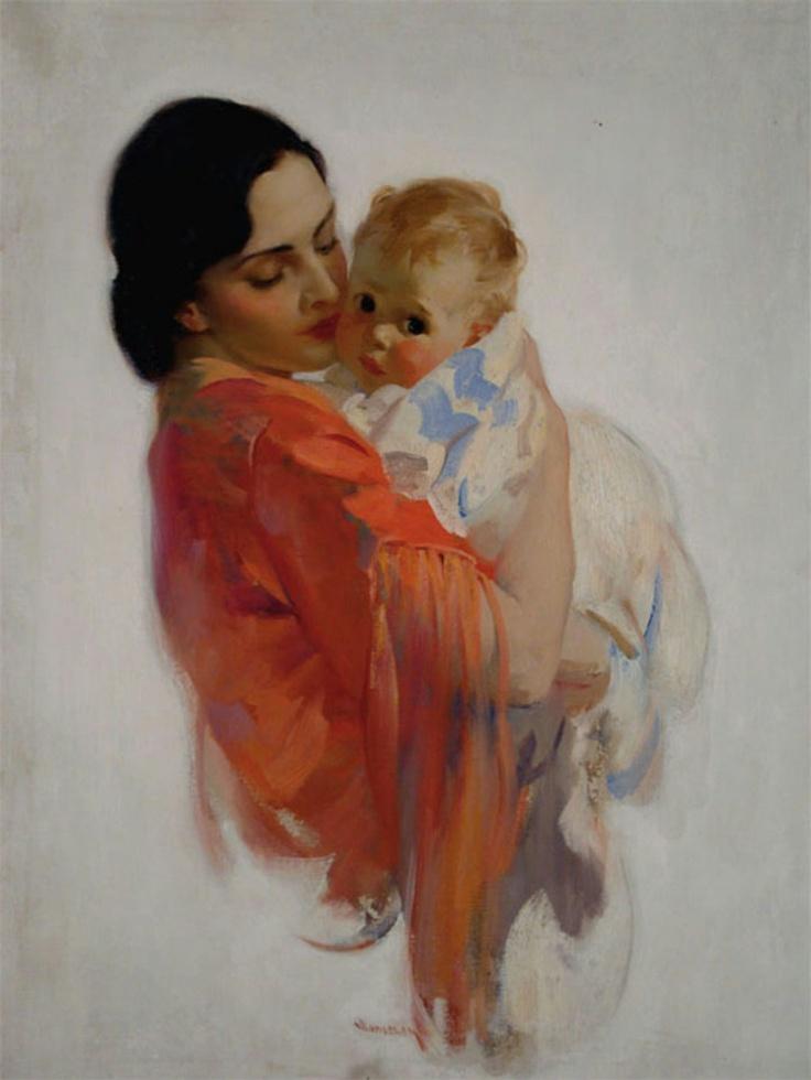 Открытки с младенцем на руках, анимации