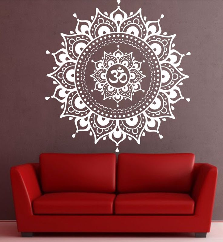 Mandala wall decal sticker yoga om namaste yoga decor wall vinyl decal lotus interior home decor meditation mandala wall art wall