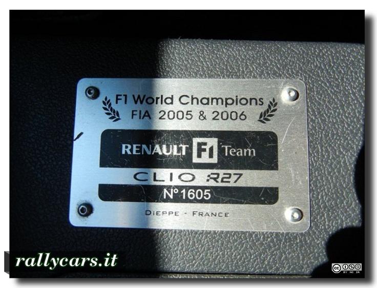 Renault Clio Rs Sport F1 Team R27 - serie numerata: 1605