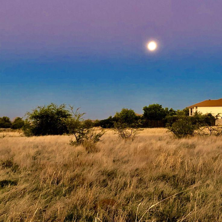 Full moon. Super moon over Africa