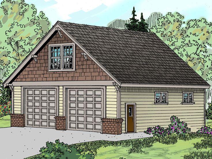 Tandem garage plan 051g 0040 outdoors pinterest for Tandem garage house plans
