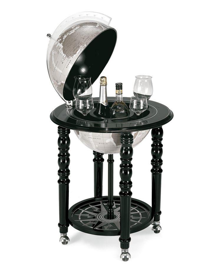 Designer Decor Globe Bar | Italian | Grey Globe on Black