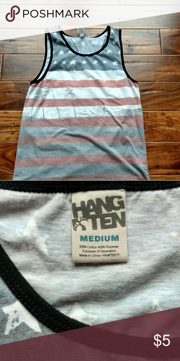 Men's 4th of July tank by Hang Ten Red, white and blue tank. Great summer tank! Show your patriotism! Hang Ten Shirts Tank Tops