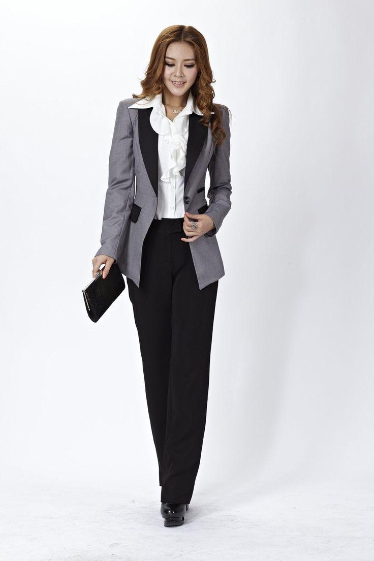 ladies pant suits   2012 New Women Suits Blazer & Pants for OL Office Ladies Professional ...