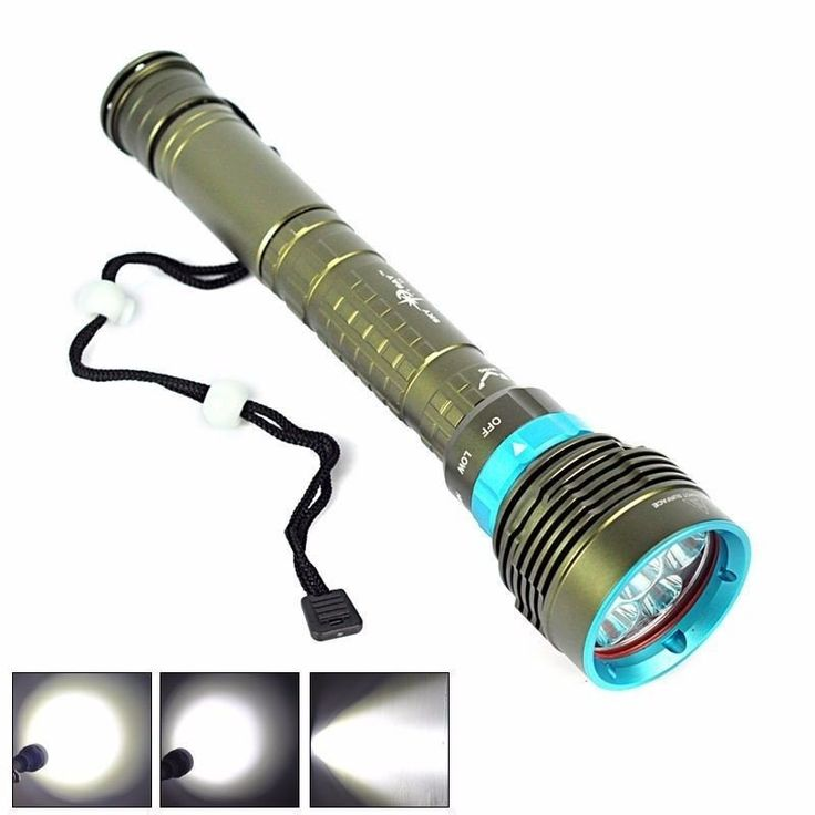 Lanterna Mergulho Profissional 7 Led Cree Xm-l2