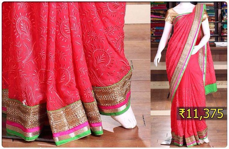 Best silk sarees designs images on pinterest designer