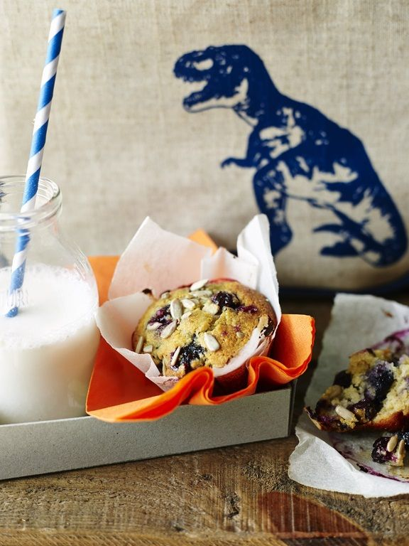 Pete Evans' Paleo blueberry and sunflower seed muffins