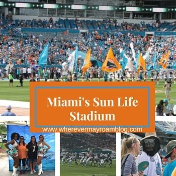 Eddie, Taylor, and I attended a Miami Dolphin's game at the Sun Life Stadium in Miami last year. We were thoroughly impressed with how nice the stadium was and cannot wait to go back. Have you attended a game at this venue?  http://www.whereverimayroamblog.com/football-sunday-sun-life-stadium/
