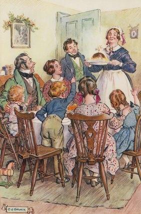 A Christmas Carol --charles edmund brock Christmas pudding