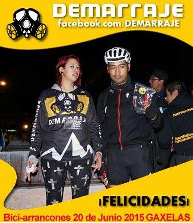 Ganador dr la Rifa Demarraje en BiciArrancones Equipo Demarrajas #Demarraje #PisaPedalyDemarraje #ActitudDemarraje #BiciArrancones #Gaxelas #EquipoDemarraje www.facebook.com/Demarraje #ActitudCiclista #Bicicleta #Bici #Ciclistas #fixie #fixied #piñonfijo #singleSpeed #LasDemarrajas #demarrajas