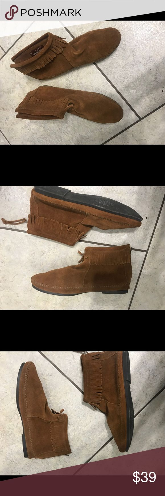Brown bootie ankle shoes New never used booties size 11 . Shoes Flats & Loafers