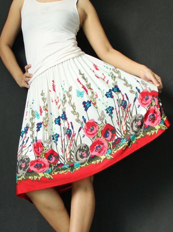 Mini Skirt Women Midi Knee Length Skirt A Line by myuniverse, $19.99