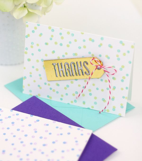 Use @mftstamps to create this super simple #confetti #stationery | Damask Love