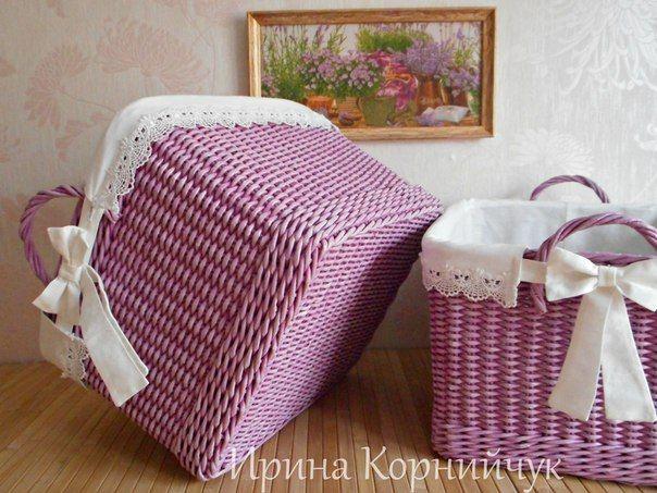 Плетение из бумаги и газет. Красноярск.'s photos