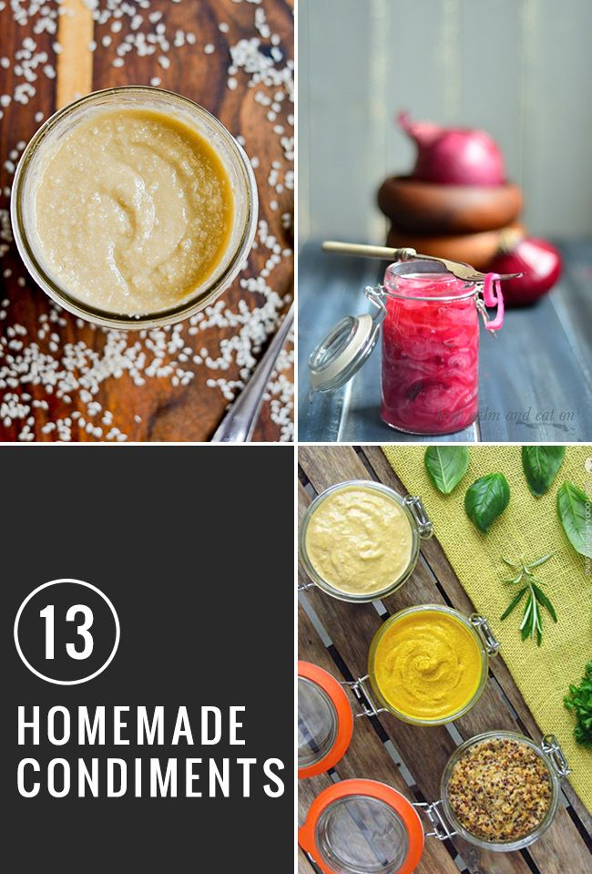 13 Healthy Condiment Recipes to Make at Home - Sauces, Relishes ...