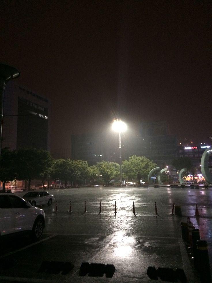 2014.8.18 부산역광장. 200mm호우경보
