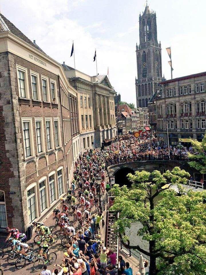 Eerste etappe Tour de France in Utrecht op 05-07-2015.