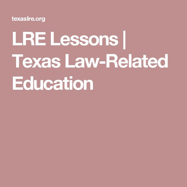 LRE Lessons | Texas Law-Related Education
