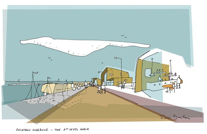 Fabio Barilari's architectural drawings