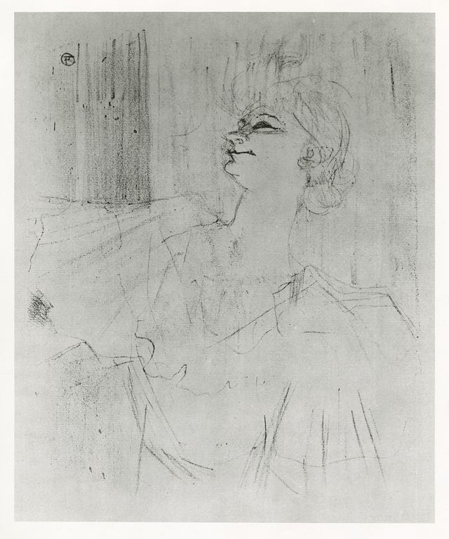 "Henri de Toulouse-Lautrec (French, 1864–1901). Yvette Guilbert, ""A Ménilmontant"" by Bruant, 1898 (First Edition).Toulouse Lautrec, Yvette Guilbert, Paris 20E, Henry Toulouse Lautrec, Henry De, Toulouse Lautrec French, Art Français"