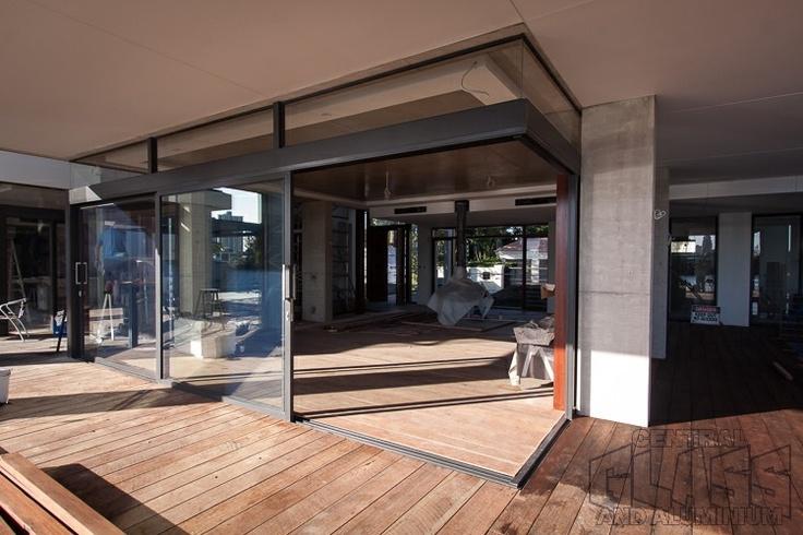 capral 900 series 90 degree corner stacking door made for a house lot of windows and crimsafe at. Black Bedroom Furniture Sets. Home Design Ideas