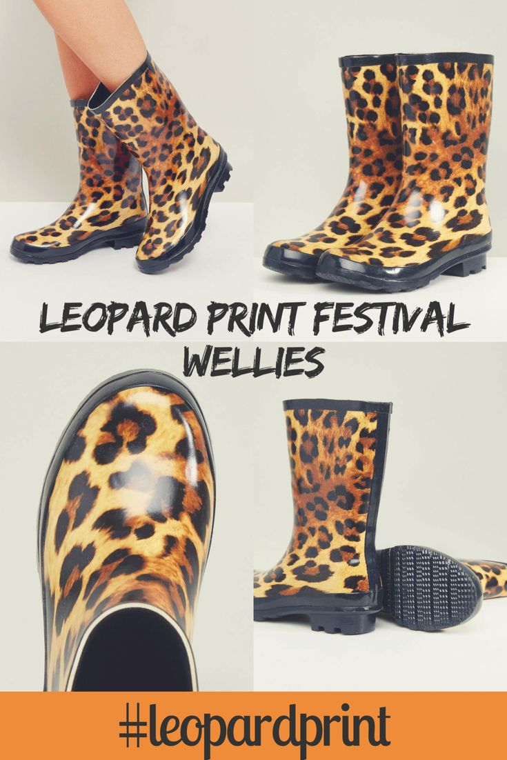 Leopard print festival wellies. Glam on the go from ASOS. Animal print wellie boots. #aff