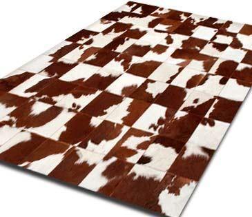 Alfombra Patchwork De Cuero De Vaca Con Pelo. 1,2m X 1,8m - 170 USD