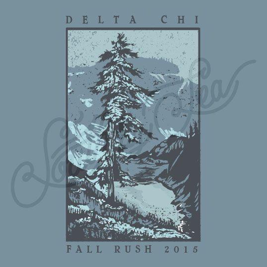 Delta Chi | D Chi | Fall Rush Tee Shirt Ideas | Forest Tee Shirt Ideas | Vintage Tee Shirt Ideas | South by Sea | Greek Tee Shirts | Greek Tank Tops | Custom Apparel Design | Custom Greek Apparel | Fraternity Tee Shirts | Fraternity Tanks | Fraternity Shirt Designs
