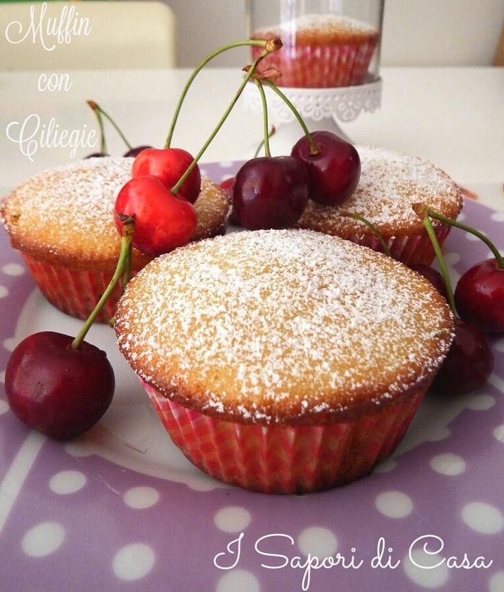Muffin con ciliegie