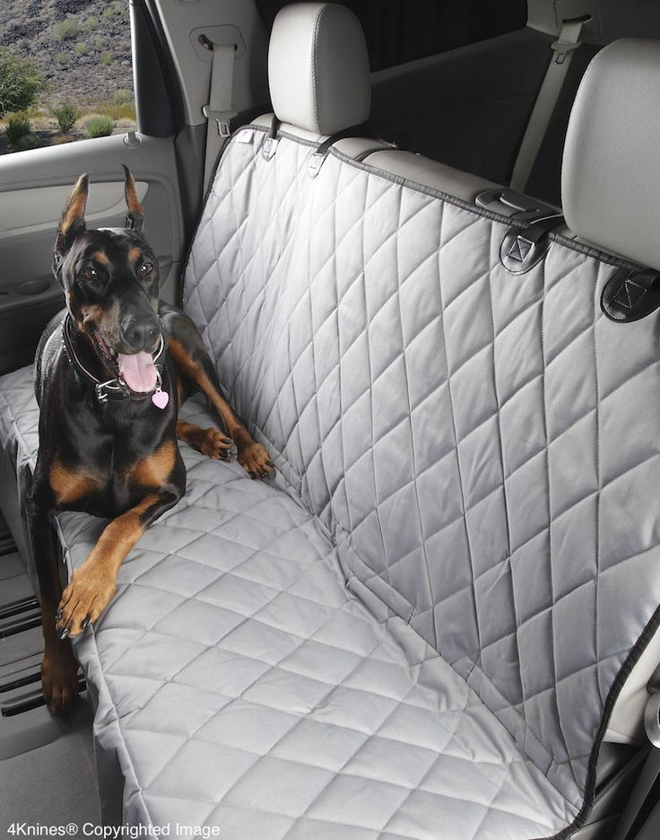 Fitted Seat Cover Rear Bench Grey Regular Non Hammock