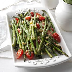 Tuscan-Style Roasted Asparagus Recipe from Taste of Home