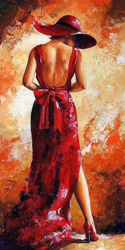 Emerico Tóth ~ Lady in Red   Tutt'Art@   Pittura * Scultura * Poesia * Musica  