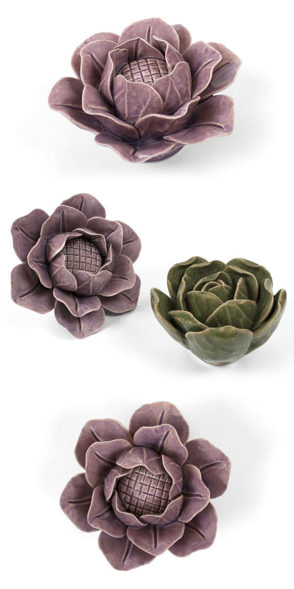 Use your floral art for tabletop decorations, paperweights, or tuck them in with your houseplants. Or, create a work of art on your wall: each Lotus has a keyhole on the back so it can be hung with ease.