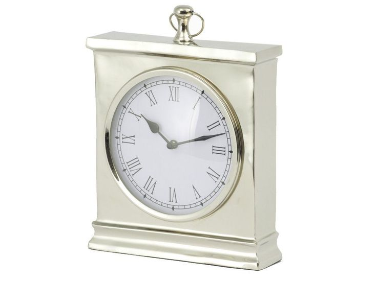 The large silver mantel clock is part of our range of elegant timepieces, ideal for adding style to your home. If you like the look of this shiny metal desk clock, you might also want to take a look at these other items, similar in style to the traditional silver carriage clock shown...