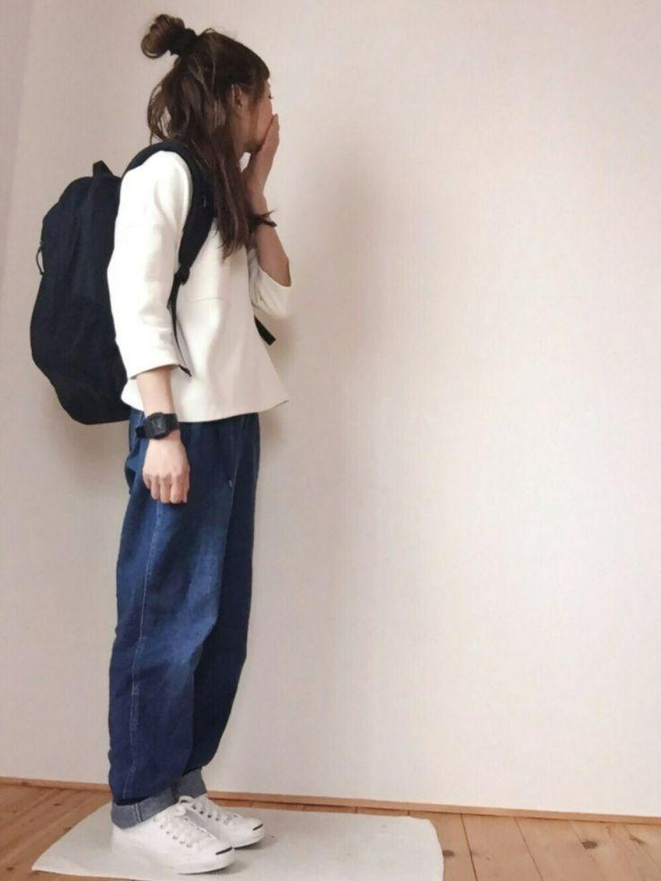 はなこ**さんの「コットンゴクアツポケットT7分袖【niko and...】(niko and...)」を使ったコーディネート